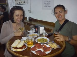 chorizo sandwiches in Rota