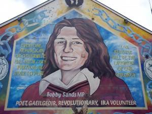 Bobby Sands IRA mural in Belfast