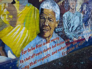 Nelson Mandela mural in Belfast, Northern Ireland