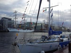 boats on the Liffy, tall ships Dublin