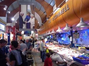 Fresh seafood and giant tuna, english market cork