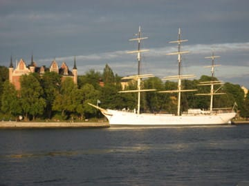 af Chapman boat, sleeping on a boat in Stockholm