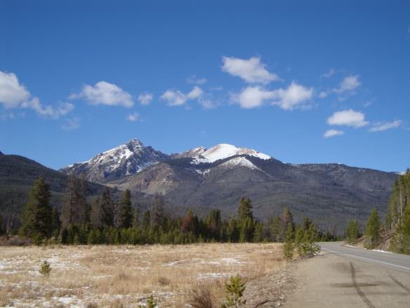 snow capped mountains in the Colorado Rocky national park