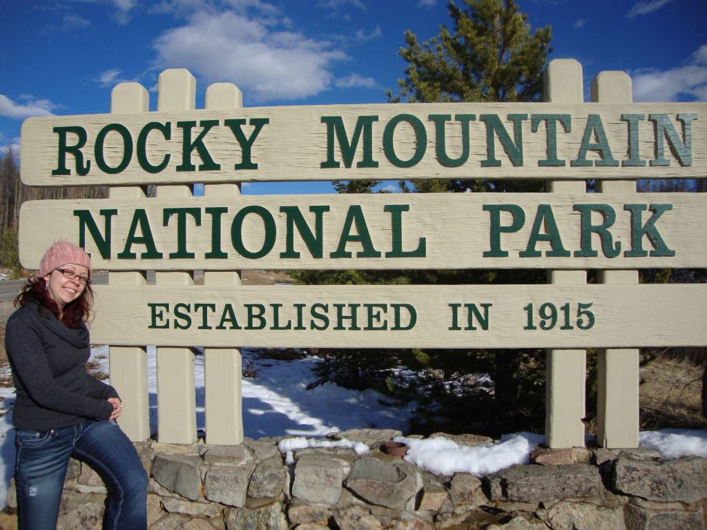 Entrance sign, rocky mountain national park