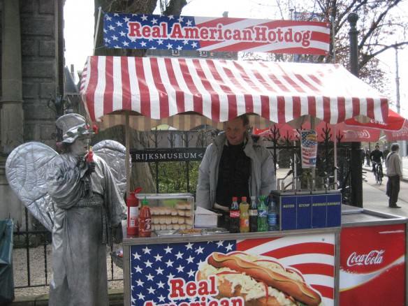 Amsterdam hot dog stand