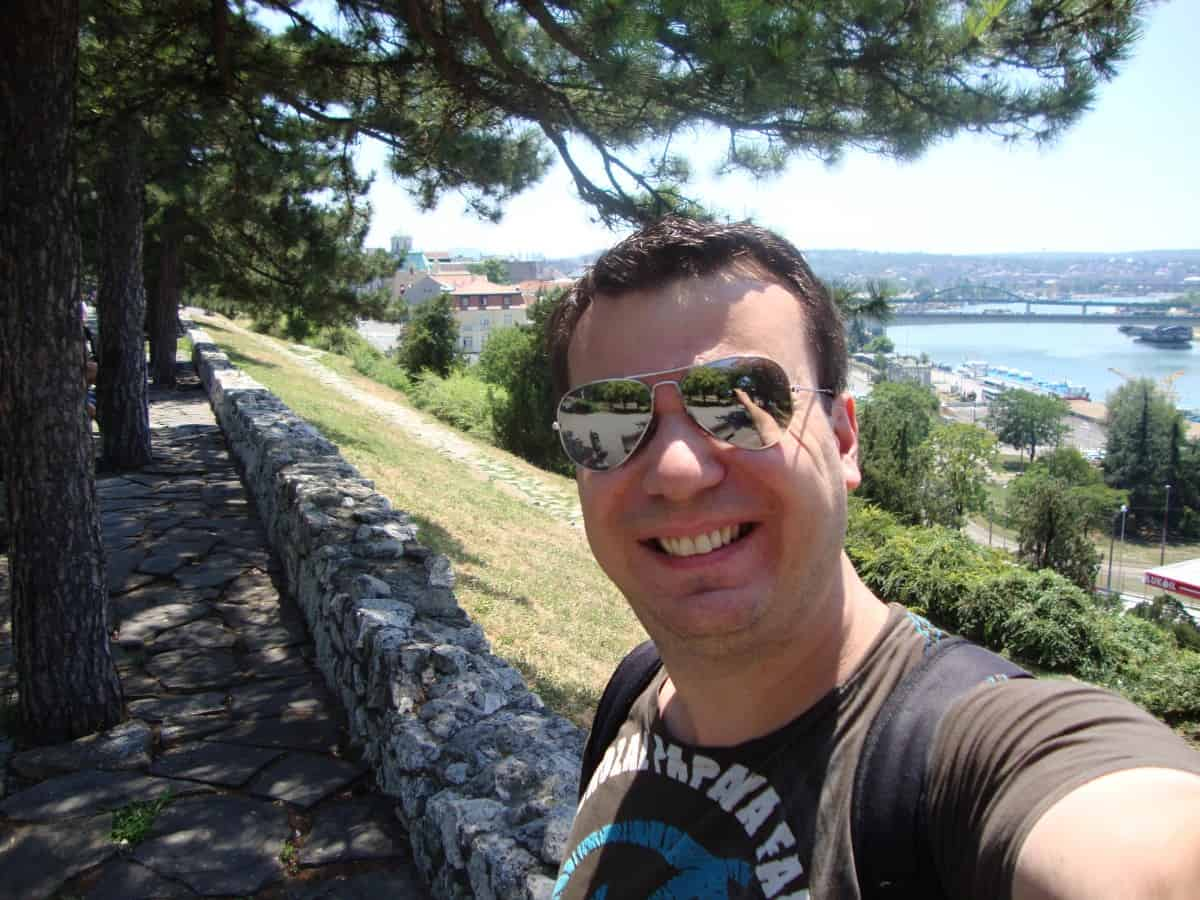 An awesome view of Belgrade and the Danube river can be seen from Kalemegdan Park. American in Belgrade