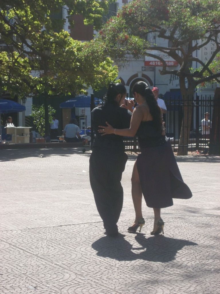 Tango in San Telmo, a blue color neighborhood of Buenos Aires, where Tango was born
