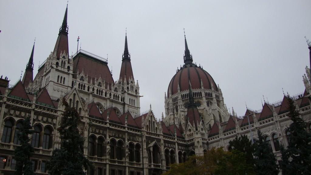 close up of the Budapest parliament