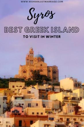 Greek village pin for Pinterest