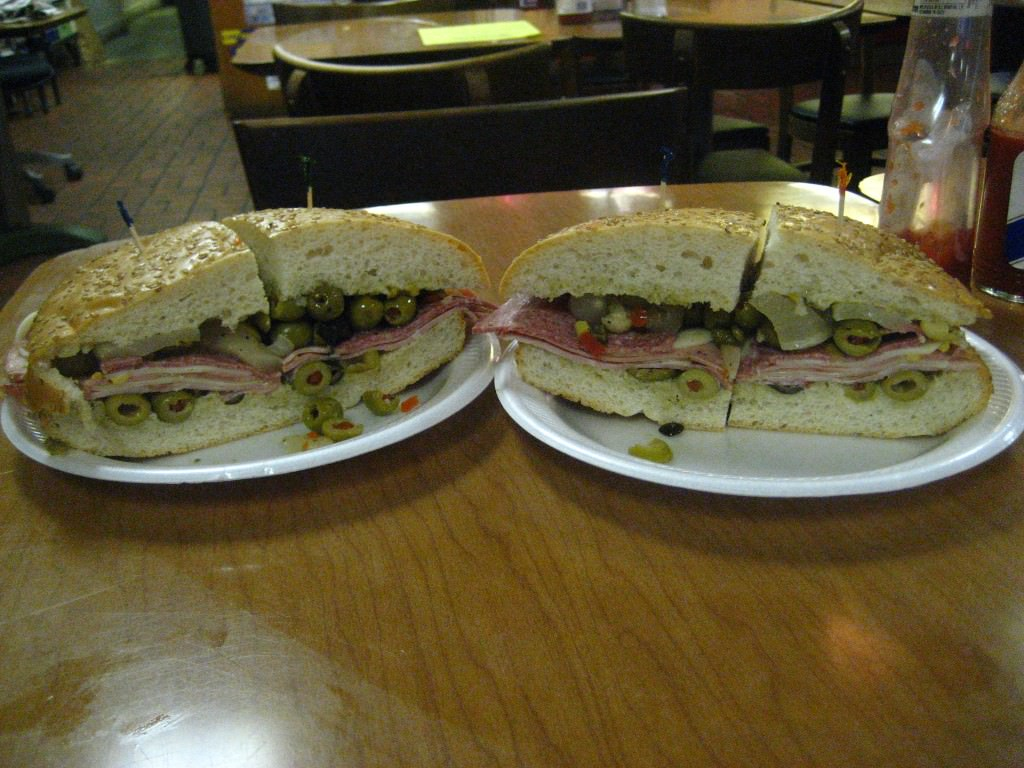 The Muffaletta: One of the greatest sandwich's the human race has ever created, New Orleans.