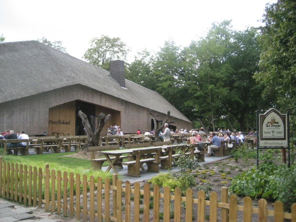 The outside terrace of the La Trappe cafe, the La Trappe brewery