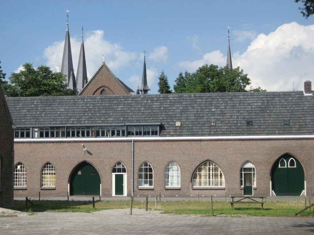 Inside the de Koningshoeven monastery/brewery, the La Trappe brewery