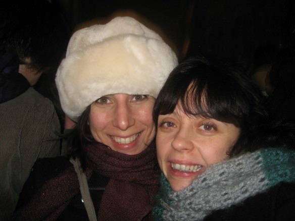 With a friend we originally met at a CS dinner New Year's eve in Amsterdam. We've since kept in touch over the years!