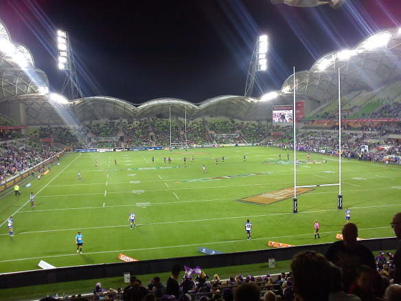 Melbourne storm at AAMI stadium, photos from down under