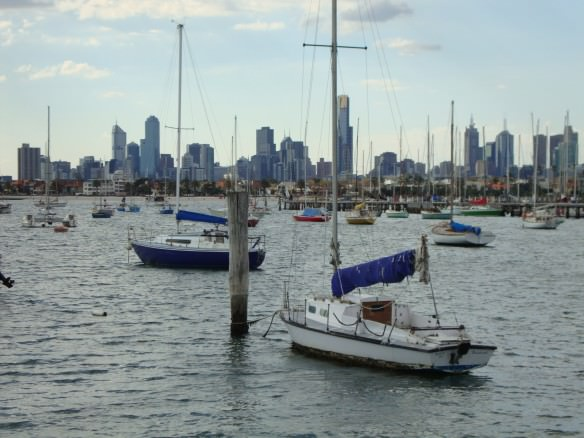 View of downtown Melbourne from St. Kild, heading back to Asiaa