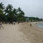 Sentosa Island, a Man Made Beach in Singapore