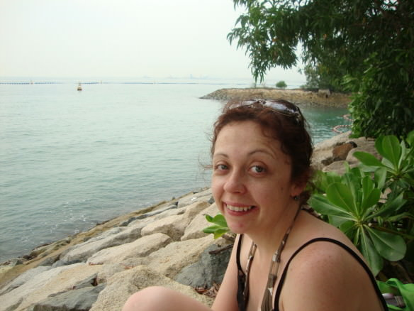 Girl on Sentosa Island beach