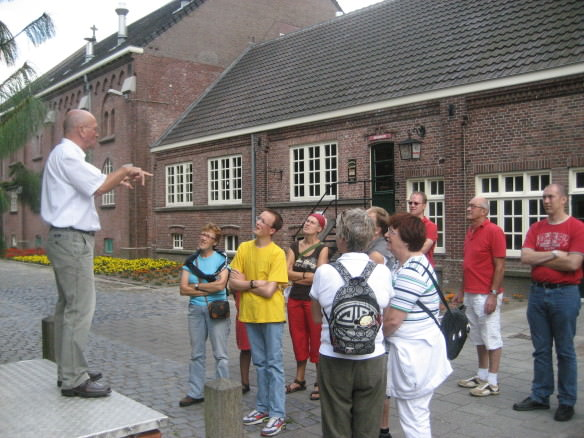 the La Trappe brewery tour, Dutch guide