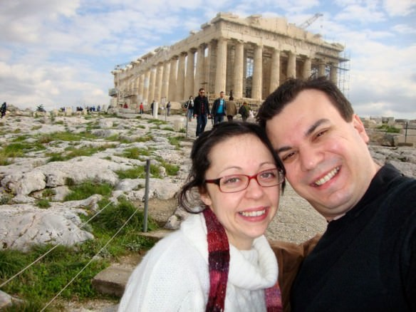 The Parthenon in Athens during a Christmas visit to see family in Greece