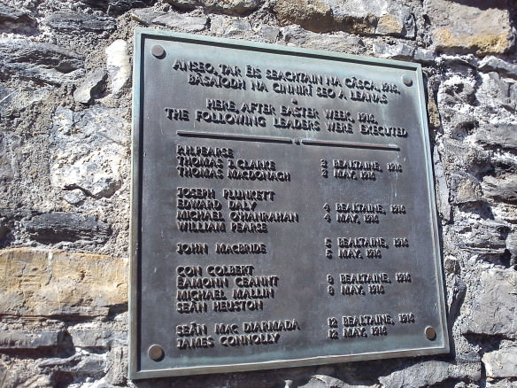 memorial to Easter Rising at Kilmainham Jail