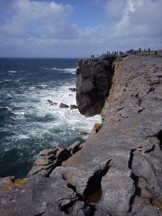 west coast of Ireland, cliffs and sea