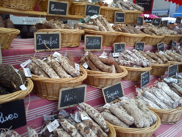 many varieties of animal sausages, Great Dishes in Southern France