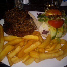 Scottish haggis burger