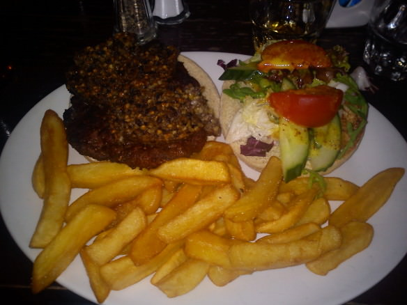 Scottish haggis burger, Haggis and whisky feast!