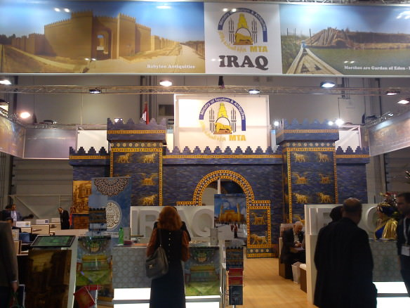 The Iraqi Tourism Board's mega stall at WTM 2013 in London