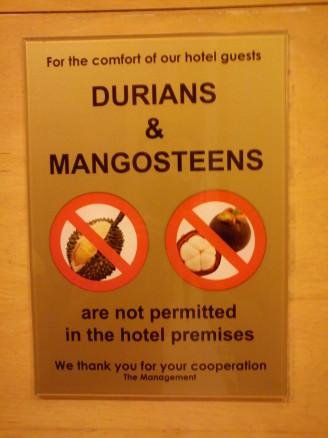 Kuala Lumpur Hotel, no Durian fruit!, funny kuala lumpur photos