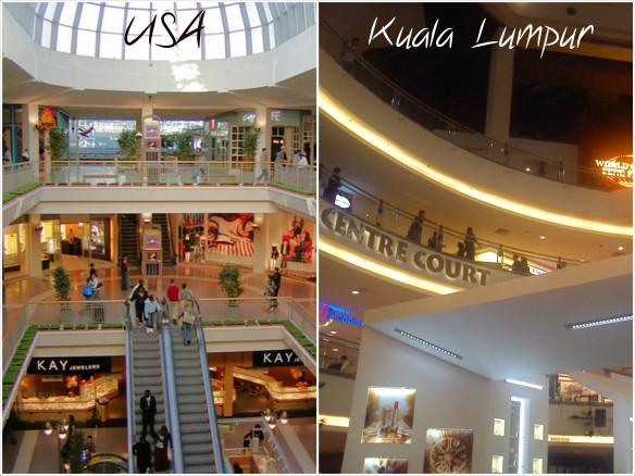Malls - USA vs, Malaysia