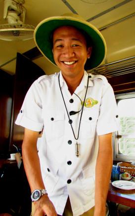 Friendly staff on the North Borneo Railway