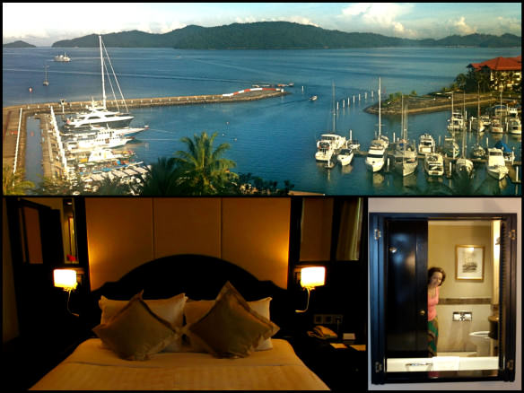 Pacific Harbour Resort at Sutera Harbour, collage of the room in Kota Kinabula, Borneo