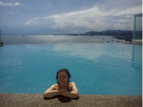 rooftop infinity pool, Four Points by Sheraton, Sandakan