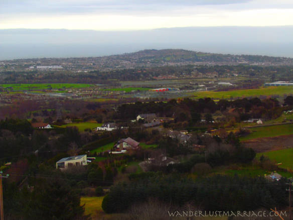 Wicklow Mountains - view of Dublin