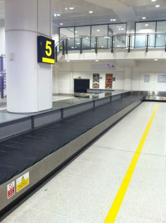 Avoid waiting here for your luggage to appear!