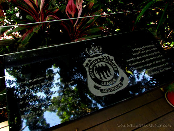 Sandakan Memorial Park marble remembrance