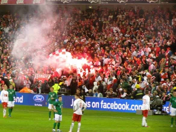 European football flares
