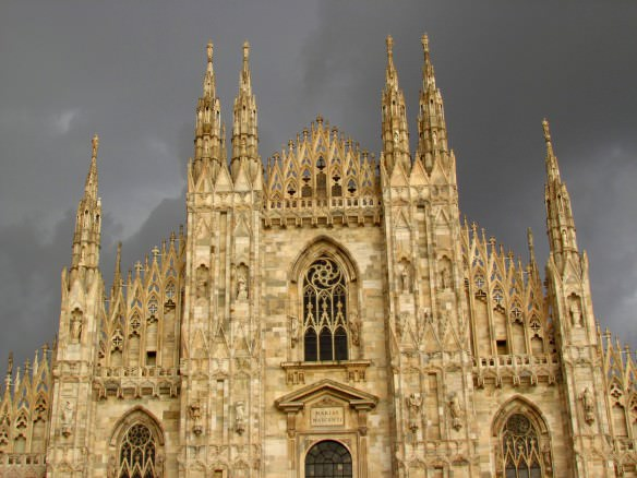 Milan Duomo in storm clouds