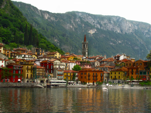 Varenna, Italy from the ferry boat