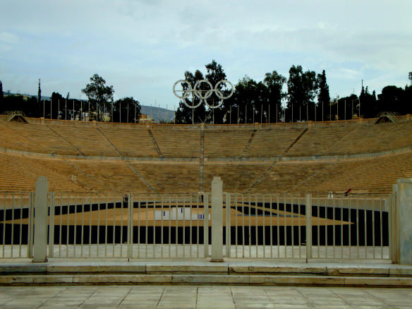 Athens Panathenaic Stadium was built for the first modern Olympics in 1896 and is the world's only active stadium made entirely of marble.