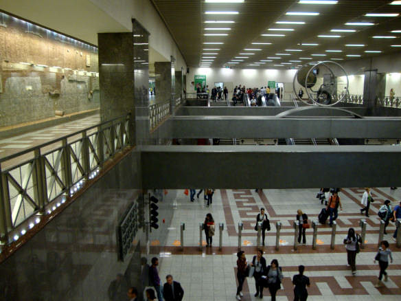 Some of Athens subway stations double as museums, with antiquities showcased behind glass, unique even in Europe.