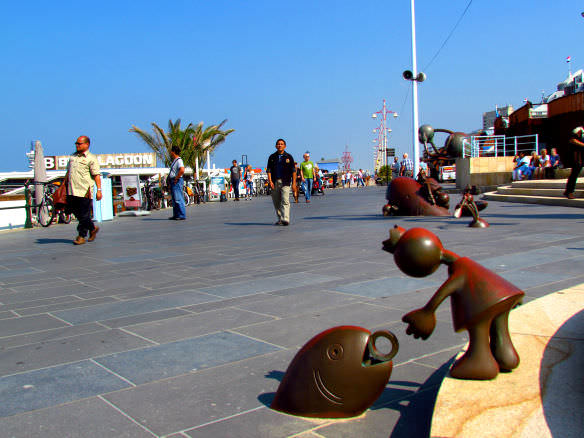 Scheveningen fish sculpture