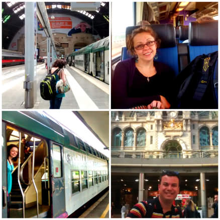 Europe Train Collage