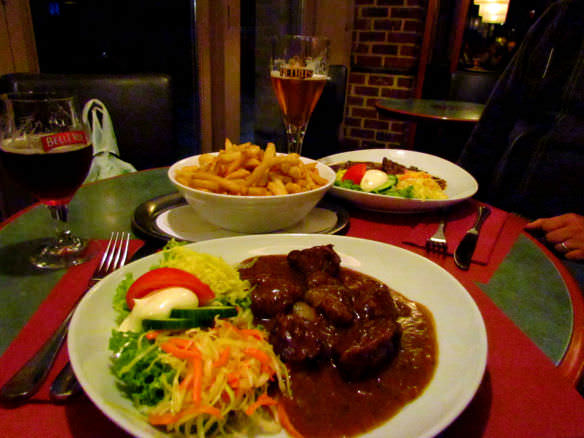 A casual dinner in Belgium is generally more laid back than a casual dinner in the United States, with higher quality food.