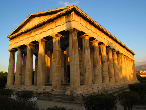 Athens Temple of Hephaestus (Theseum), dedicated to the Greek god of craftsmanship, is one of the most underrated 2,500 year old buildings in the world.