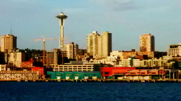 Seattle's Space Needle from the ferry to Bainbridge Island (not taken in the 70's, just a couple weeks ago on my crappy camera phone).
