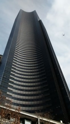 An ants eye view from the ground up to the 75th floor of the 967 foot tall Columbia Center.
