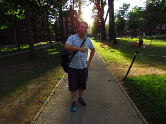 Strolling the campus of Harvard is one of several picturesque and historic Boston area walks.