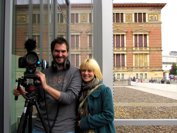 Charlie and Charmaine of My Destinations Berlin, who toured the exhibition and interviewed me about the experience.